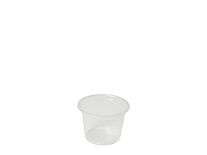 1oz (30ml) PLA cold portion pot - clear - Vegware