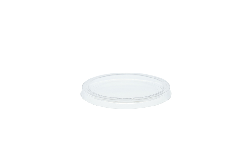 PLA portion pot lid (fits 2-4oz pot) - clear - Vegware