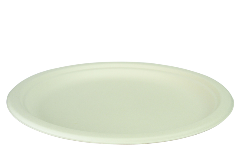 10in bagasse plate - white - Vegware