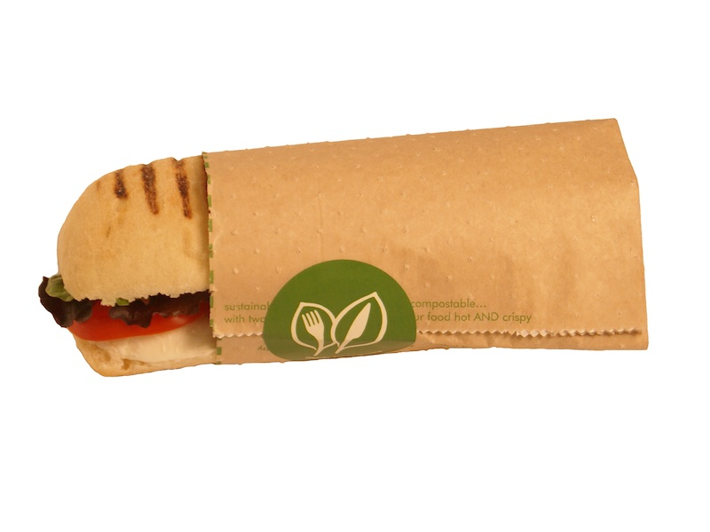 8 x 10 x 9in hot & crispy pouch - kraft - Vegware