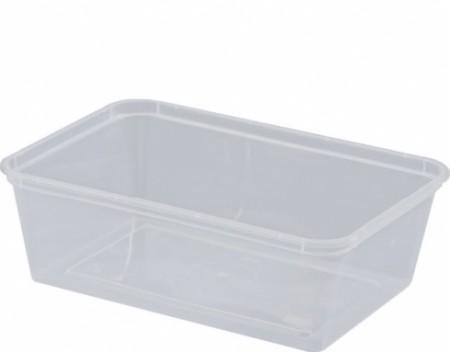 """750ml Plastic Rectangle Container """"Magic Plastics"""" MPR"""