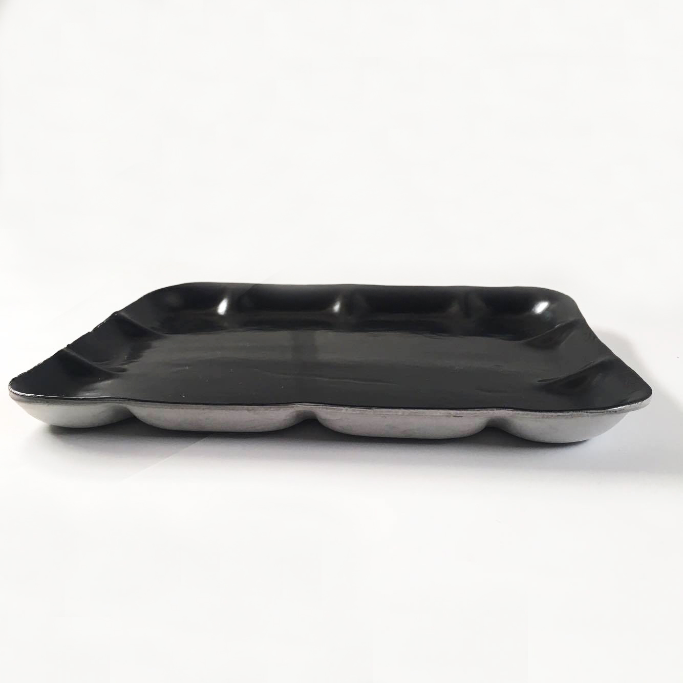 "Foam Tray Black Shallow 8"" x 7"""