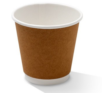 PAC 8oz Double Wall Kraft - Squat (One size fits all lid)