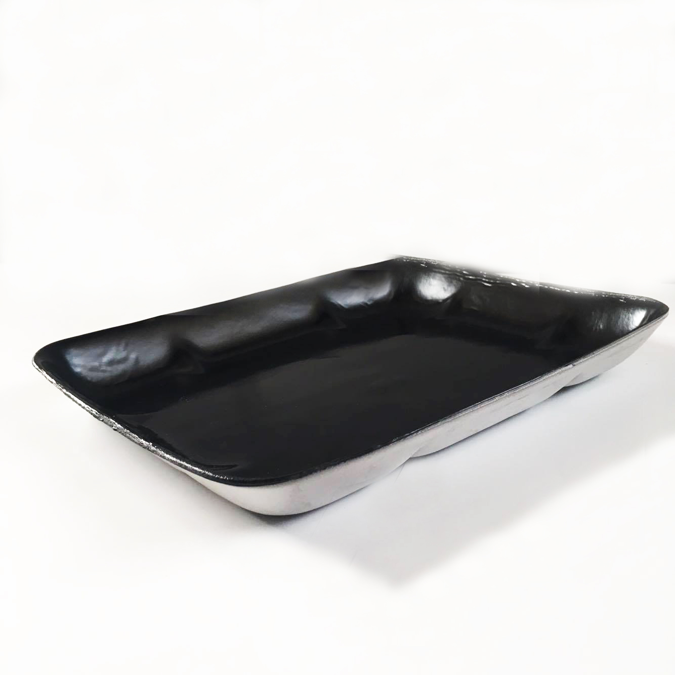 "Foam Tray Black Deep 9"" x 7"""