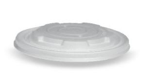 CPLA Flat Lid to suit 8oz PLA Paper Soup Bowl (No Hole)