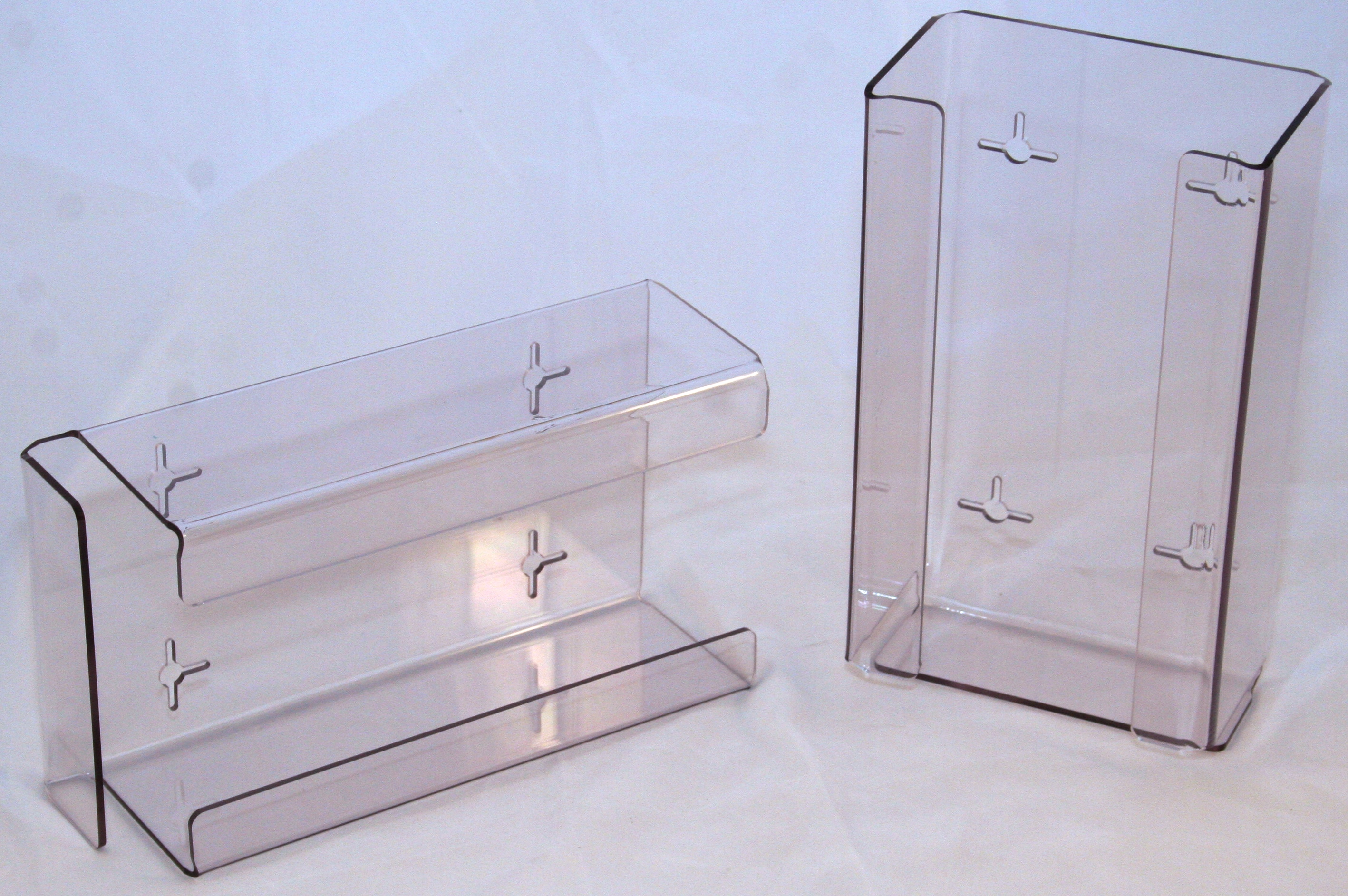 Glove Holder Clear Perspex Single