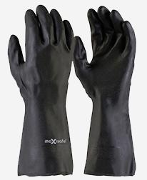 Black Neoprene Gauntlet Gloves
