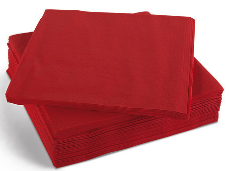 Napkin Red 2ply Dinner GT Fold