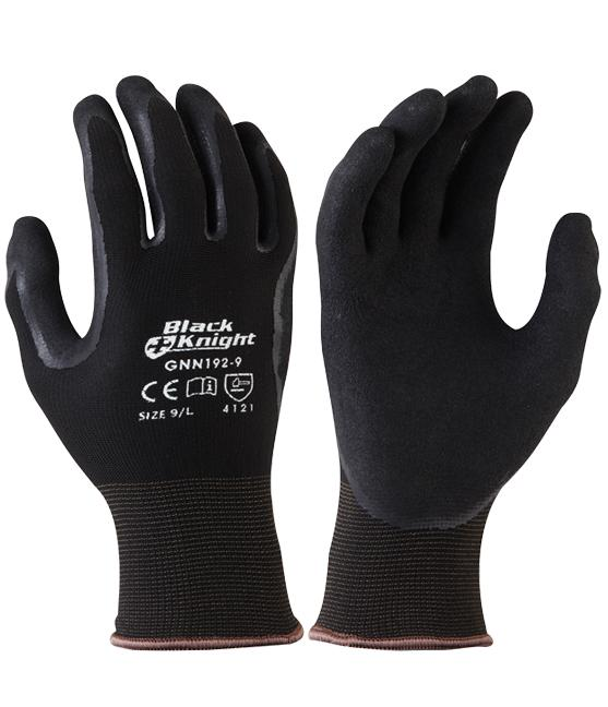 Black Knight, Rubber Dipped Nylon Gloves