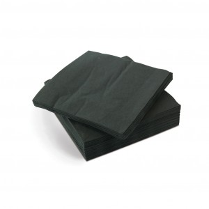 Napkin Quilted 1/4 Fold Cocktail Black