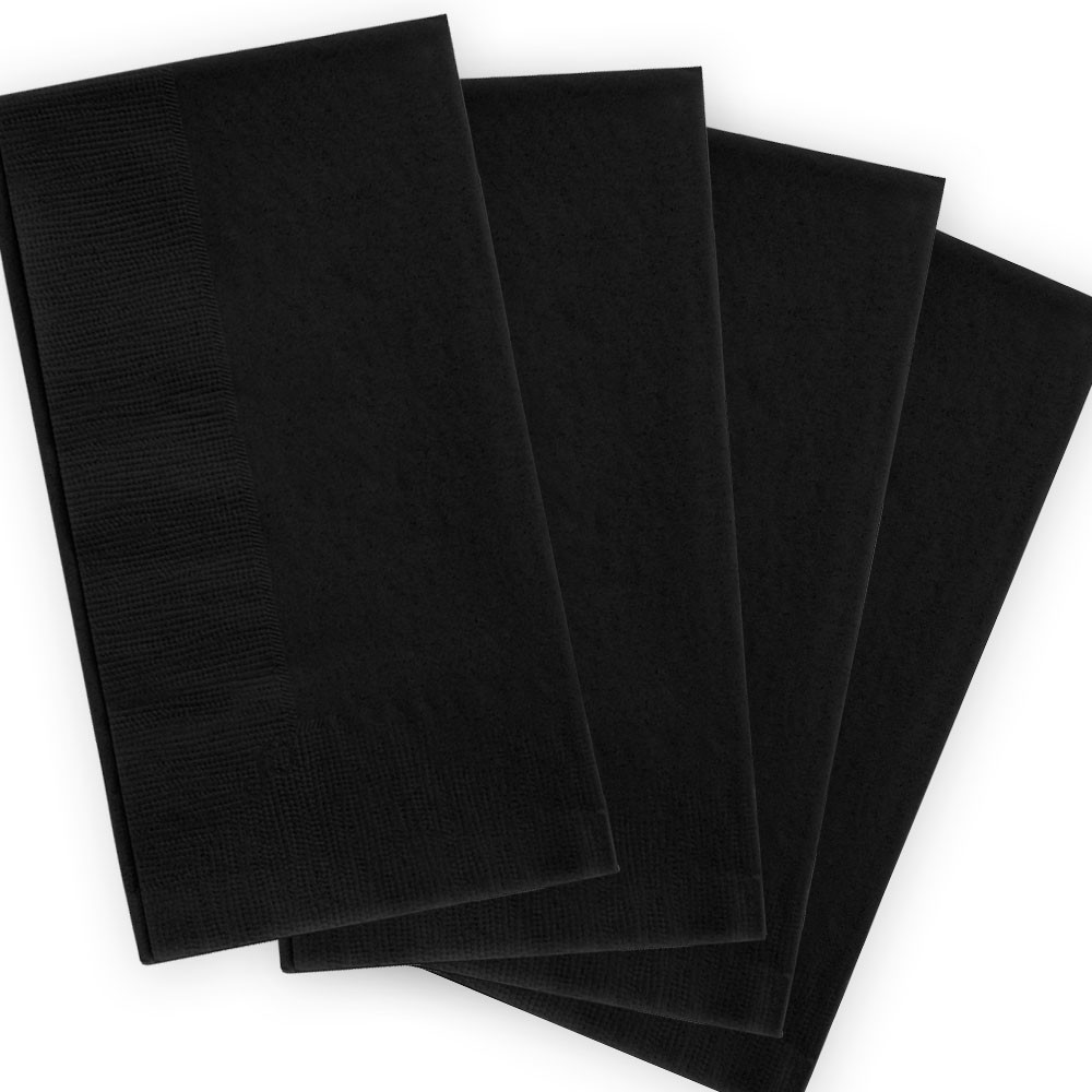 Napkin Black 2ply Dinner GT Fold