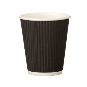 Velta 8oz Crinkle Double Wall Coffee Cup - Squat (One size fits all lid)