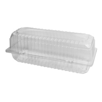 "Large Clear Roll Pack Hinged Lid ""DP3"""