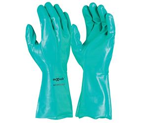 Gloves Nitrile Chemical Flocklined 33cm Long