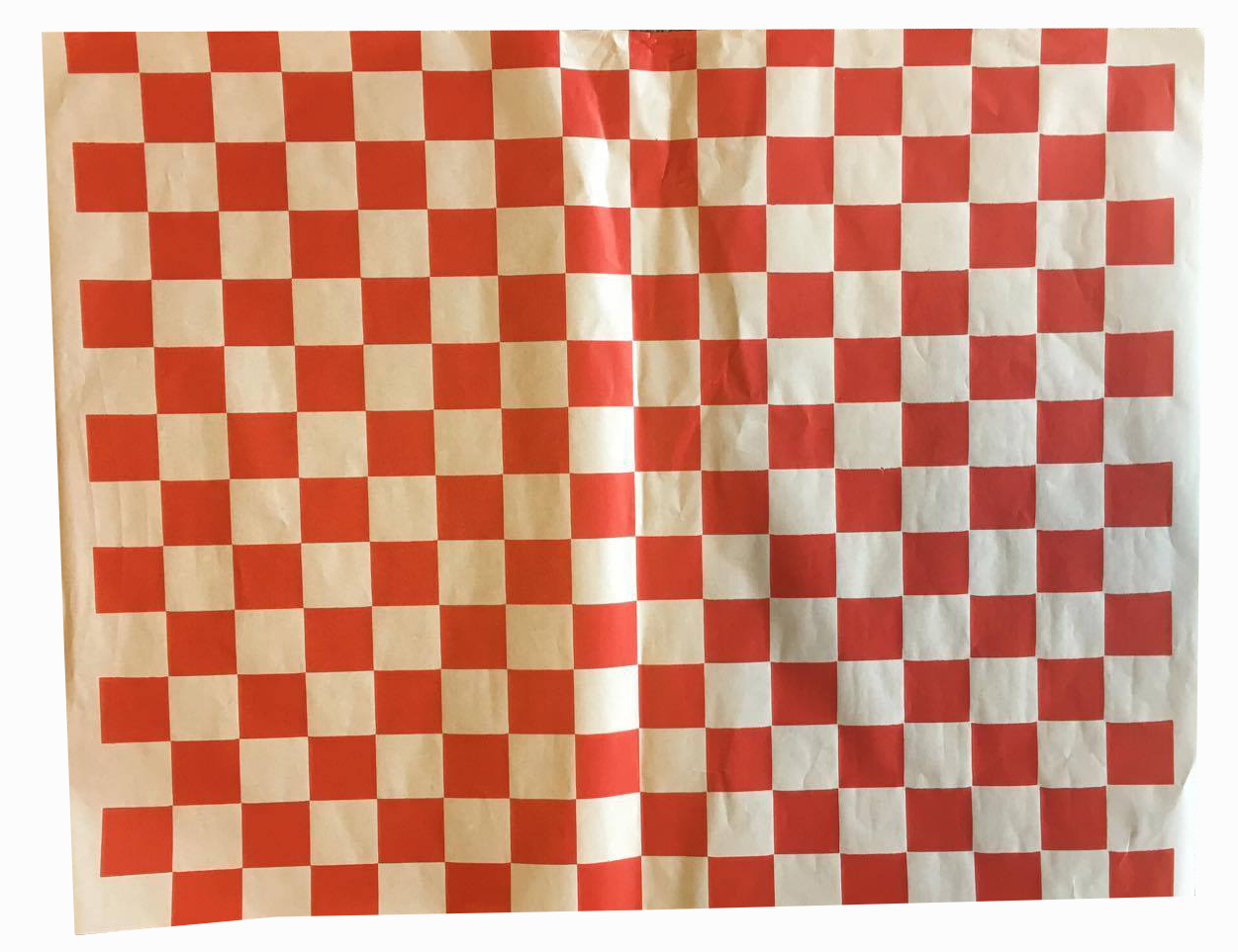 Grease Proof Paper Red Check Print 38gsm